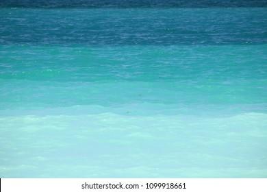 Caribean sea, shades of blue