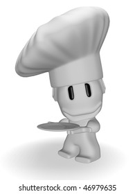 caricature of chef smiling
