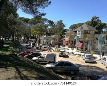 Carilo city downtown.  A beautiful little town near the sea without paved streets. Argentina, 16th september, 2017