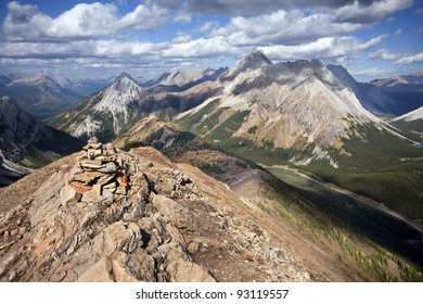 Carin at the Summit of the Amazing Pocaterra Ridge Hike, Kananaskis Country, Alberta, Canada.