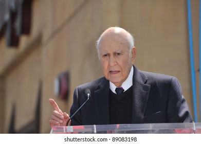 Carl Reiner on Hollywood Boulevard where Mel Brooks was honored with a star on the Hollywood Walk of Fame. April 23, 2010  Los Angeles, CA Picture: Paul Smith / Featureflash
