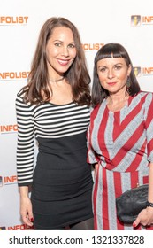 Carla Betz, Sherry Matson attend 2019 InfoList's Pre-Oscars Soiree at Skybar at the Mondrian Hotel, West Hollywood, CA on February 20th, 2019
