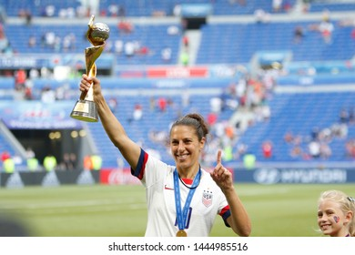 Carli Lloyd of USA celebrate their victory during the FIFA Women's World Cup France 2019 Final football match USA vs Netherlands on 7 July 2019 Groupama Stadium Lyon France