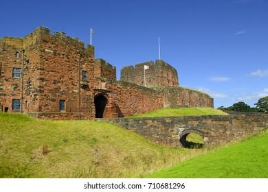 Carlisle Castle a Norman style motte and bailey fortress built in the eleventh century to secure the northern Border of England from Scottish Invasion
