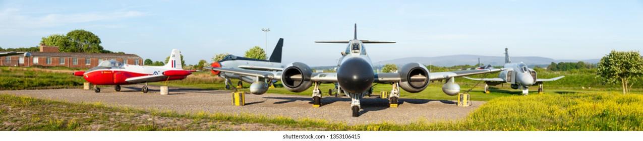 Carlisle, Cumbria / UK - 05 24 2018: classic vintage jet aircraft at museum