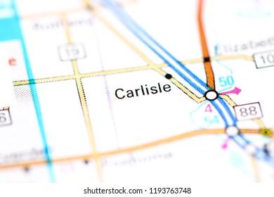 Carlisle. Minnesota. USA on a map