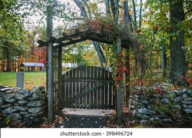 CARLISLE, PA, USA - OCTOBER 16, 2015: Enterance at Kings Gap Environmental Education Center.