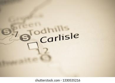 Carlisle. United Kingdom on a geography map
