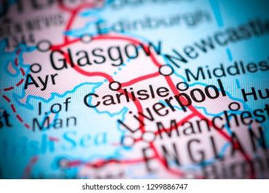 Carlisle. United Kingdom on a map