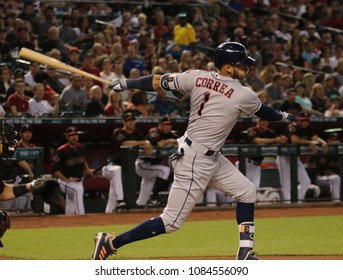Carlos Correa infielder for the Houston Astros at Chase Field in Phoenix,Arizona USA May 4,2018.    -D-Backs