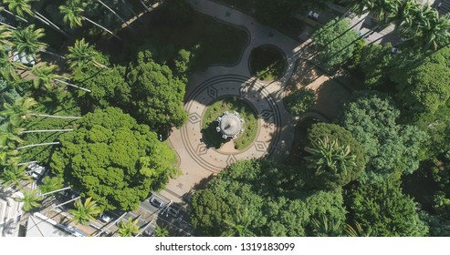 Carlos Gomes Square in Campinas SP Brazil, top view of the bandstand