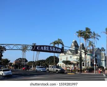 Carlsbad CA USA 11-11-19  Carlsbad Sign at Carlsbad CA