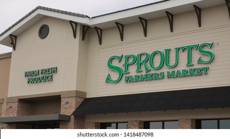 Carlsbad, CA / USA - June 7, 2019: Sprouts Farmers market food store