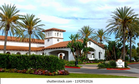Carlsbad, CA / USA - October 1, 2018: The beautiful Costa Del Sol ballroom and conference center at the Omni La Costa Resort
