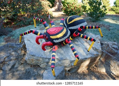 Carlsbad, California - Dec 28, 2018: LEGO spider in LEGOLAND.