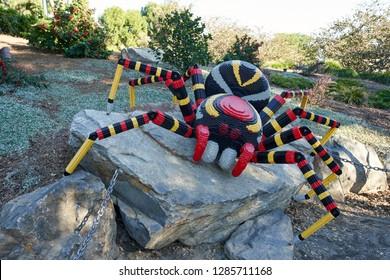 Carlsbad, California - Dec 28, 2018: LEGO spider in LEGOLAND.