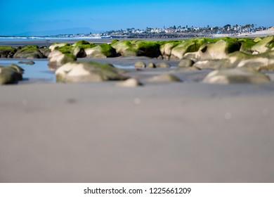 Carlsbad California seen from the beach