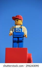 Carlsbad, California, USA - December 27, 2014: Legoland California, a theme park and miniature park, is the third Legoland Park to open and the first Legoland outside Europe.