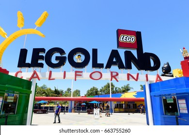 Carlsbad, California, USA - June 15, 2017: Legoland California is a theme park located in Carlsbad based on the Lego toy brand. It is the first Legoland park to open outside of Europe.