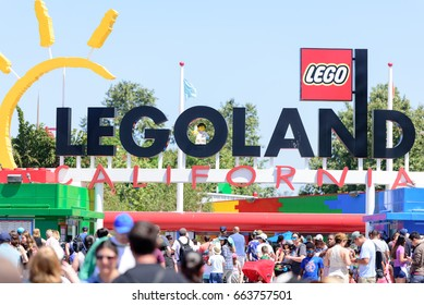 Carlsbad, California, USA - June 15, 2017: People from all over he world visiting Legoland  theme park located in Carlsbad, California