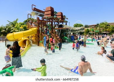 Carlsbad, California, USA - June 15, 2017: Duplo splash safari is a theme park in Legoland California located in Carlsbad based on the Lego toy brand on June 15, 2017.
