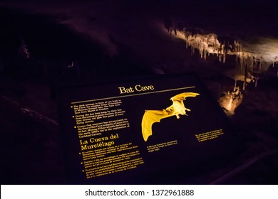 Carlsbad Cavern National Park, NM, USA - April 22, 2018: The entrance signage of the cavern park