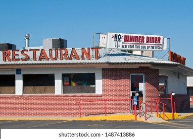 Carlsbad, New Mexico / USA -  July 27 2010: No Whiner Diner in early morning sunrise.