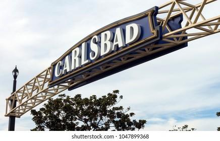 CARLSBAD,CA - NOVEMBER 11,2016:Entrance to the Carlsbad,California,United States.