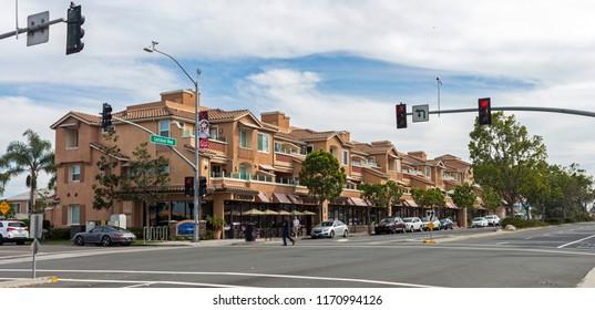 CARLSBAD,UNITED STATES - NOVEMBER 15,2016:The main street in Carlsbad,California,United States.