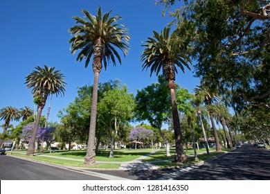Carlson Park, Culver City, Los Angeles, California, USA.