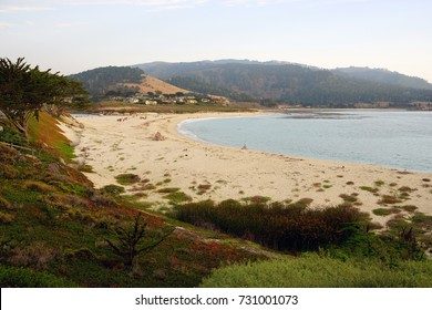 CARMEL, CA -4 SEP 2017- View of the Carmel River State Beach, a beach on the Pacific Ocean in Carmel-by-the-Sea, California.