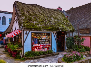 Carmel, CA - Feb. 24, 2017: The Cottage of Sweets - it is a traditional British-style sweets shop located in the quaint little town of Carmel-by-the-Sea, California.