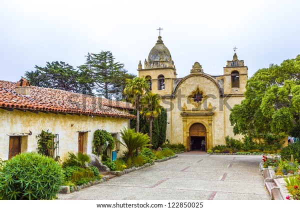 Carmel Mission in Northern California, founded in 1770