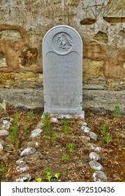 Carmel, USA - july 14 2016 : tomb in the catholic mission