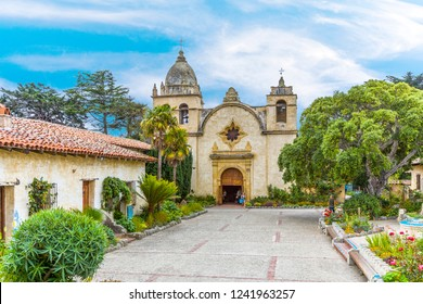 CARMEL, USA - JULY 27, 2008: Carmel Mission in Carmel, USA. The Mission was founded in 1770 by Fr. Junipero Serra as second mission in California.