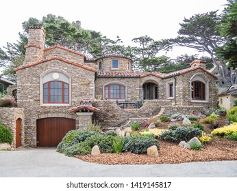CARMEL, USA - SEPTEMBER 17: typical street on September 17, 2015 in Carmel, California, United States. It is a city in Monterey County, California, United States, founded in 1902.