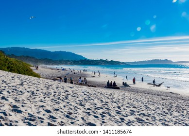 Carmel-by-the-Sea, California - January 29 2019: Sometimes called simply Carmel, it is a small town with a rich artistic history located on the Monterey Peninsula, in Monterey County, California.