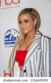 Carmen Electra arrives at the 2019 Hollywood Beauty Awards at Avalon Hollywood in Los Angeles, CA on February 17, 2019.