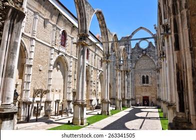 Carmo church in Lisbon, Portugal