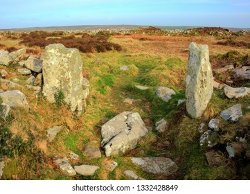 Carn Euny Iron Age Village, Ancient Site near Sancreed, West Cornwall UK