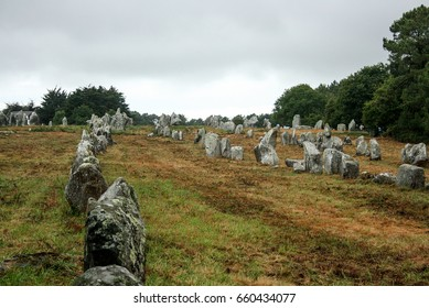 Carnac stones in France. Carnac Brittany France