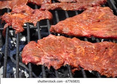 Carne Asada on BBQ