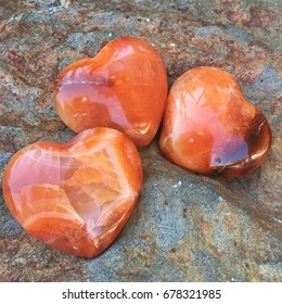 Carnelian Heart Crystal Stones