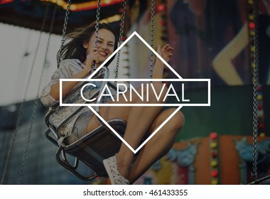 Carnival Amusement Park A Wonderful Life Concept
