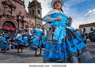 Carnival of Ayacucho. Women and men sing and dance for three days in the streets and plaza. March 1, 2014, Ayacucho Peru