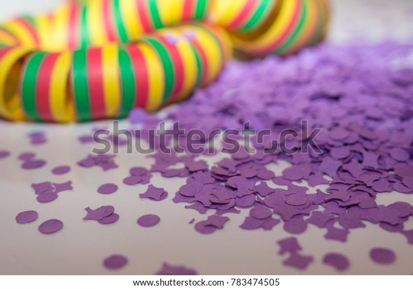 Carnival background with colorful confetti