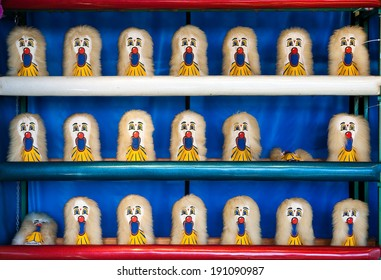 Carnival Clown Head Ball Toss Game