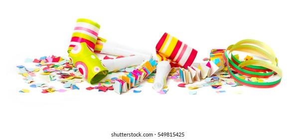 Carnival, confetti, colorful background