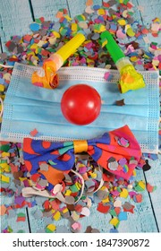 carnival decoration and surgical mask