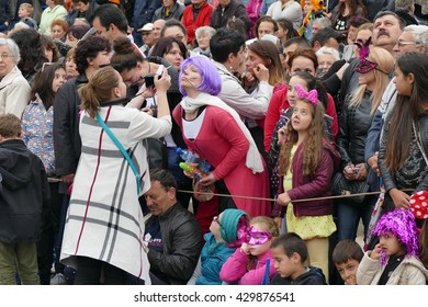 Carnival in Gabrovo, Bulgaria May 21, 2016 Despite the rainy weather in the carnival participate over 2000 people with 60 carnival pageant. Carnival is an annual and is held more than a century.